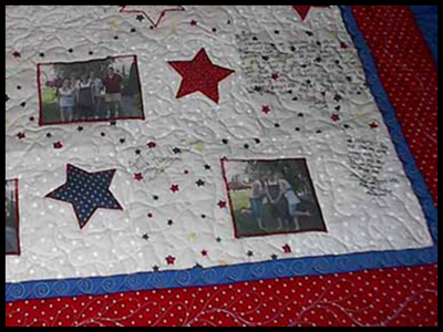 Picture of Jessica's quilt.